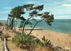 Arcachon - (Gironde) - plage des Abatilles - 1975