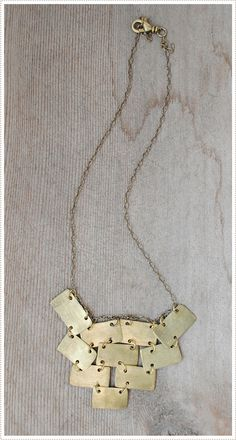 necklace made from bullet shell casings