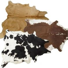 Cow hide rug for our living room!!