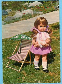 """Cartolina originale della Bambola """"Titti"""" della Sebino ...inizio anni 70"""