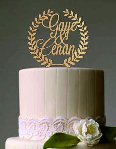 Personalized Rustic Cake Topper Custom Cake Topper Wood Cake Topper Names Cake Topper Rustic Wedding Cake Topper Weddings Decor by on Etsy Rustic Wedding Cake Toppers, Wedding Cakes, Wood Cake, Custom Cake, Wedding Decorations, Names, Ceiling Lights, Weddings, Unique Jewelry