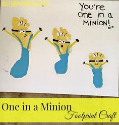 """One in a Minion"" Footprint Craft"