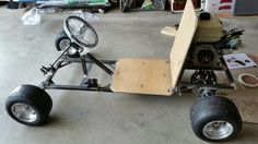 This AGK customer Dick Sheerer has a really nice go kart build coming along. Custom built frame with aluminum wheels, slicks, Stage 2 AGK engine and hydraulic disc brake are just a few of the quality features. Triumph Motorcycles, Custom Go Karts, Go Kart Designs, Ducati, Mopar, Go Kart Frame, Jazz Painting, Go Kart Buggy, Go Kart Plans