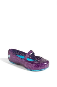 Free shipping and returns on CROCS™ 'Carlie' Glitter Mary Jane (Walker, Toddler & Little Kid) at Nordstrom.com. Glitter-infused Croslite® material shapes a lightweight mary-jane flat with a cushy footbed.