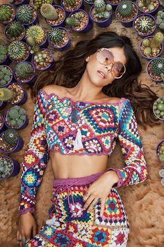 Spell Designs Carnaby Crochet Crop Top