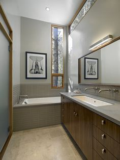 Double Trough Sink Design Ideas, Pictures, Remodel, and Decor - page 4 - line of sight on tile