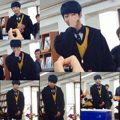 bts.army's photo on Instagram jungkook from bts at his school with fans today