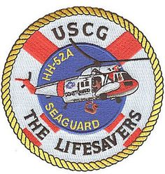 HH 52A Seaguard Helicopter W5136 USCG Coast Guard Patch Lifesavers ...
