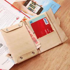 UnimiStore Handmade elegant leather wallet business card holder original design T22