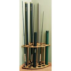 Organize your collection of rods with these space-saving rod racks. The presentation-quality oak construction blends in with almost any decor. The openings are large enough to hold both rods or rod tubes. The Wall Rack with Drawer can be used as a Fishing Rod Rack, Fishing Rod Storage, Fly Fishing Gear, Fishing Lures, Fishing Tackle, Fishing Tricks, Fishing Stuff, Carp Fishing, Ice Fishing