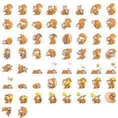 Squirrel sprite sheet