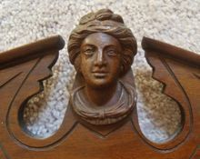 19c Antique Victorian Aesthetic Eastlake Towel Rack Carved Wood