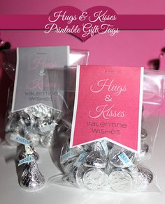 Printable Valentine's Day Craft: Hugs & Kisses