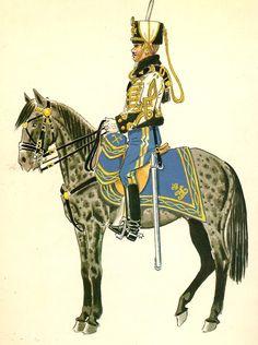Húsar de la Princesa 1924-31 TCol Media Gala Military Art, Military History, Army Uniform, Military Uniforms, American War, World War One, Napoleonic Wars, Spanish, Horses