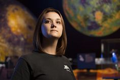 Mechanical engineering major Lauren DuCharme at NASA's Jet Propulsion Laboratory in Pasadena, where this semester, she is getting real-world experience at becoming an engineer by working on cutting-edge space technology research.