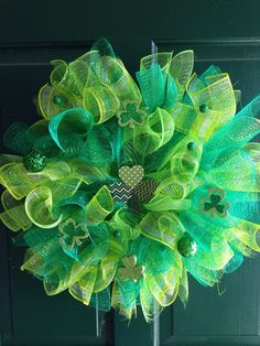 St Patricks day wreath St Patricks day decor st by FunWithWreaths, $25.00