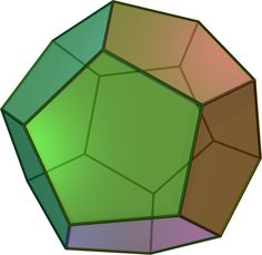 Dodecahedron - Math is Fun Feng Shui, Geometry Shape, Sacred Geometry, Shapes Images, 3d Shapes, Platonic Solid, Logic Puzzles, Special Education, Vestidos