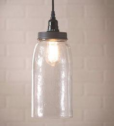 Large Mason Pendant Jar Lamp