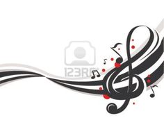 abstract music notes Stock Photo - 839256