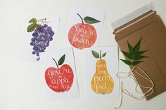You're the sweetest / postcard by oanabefort on Etsy