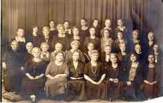 Sewing Society of the First Reformed Church from the 1920s or 30s.