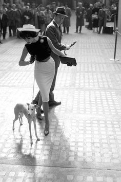 1940's Harpar Bazaar. Oh, little Italian greyhound, you are just s sublime as that fabulous model. ~ETS #Italiangreyhound