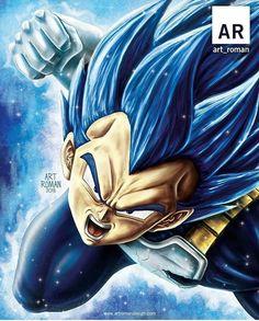 Beautiful art work of Vegeta blue mastered Anime Echii, Fanarts Anime, Anime Art, Vegeta Ssj Blue, Goku Y Vegeta, Dragon Ball Z, Dragon Ball Image, Blue Dragon, Majin Tattoo