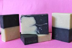 Ladybee Soaps, Black and white soam from summer soap crafting club. #cold process #CP #soap #hand made