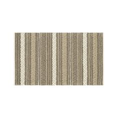 Mallory Neutral Striped Wool 3'x5' Rug | Crate and Barrel