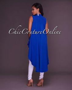 Chic Couture Online - Doria Drastic Hi Low Hem Cobalt Blue Top,(http://www.chiccoutureonline.com/doria-drastic-hi-low-hem-cobalt-blue-top/)