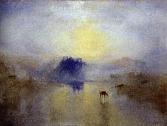 WikiOO.org - 백과 사전 - 회화, 삽화 William Turner - Norham Castle, Sunrise