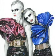 Saint Laurent FW16 by Magdalena Kruszynska #Fashionillustration #FashionisArt