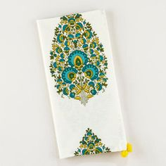 Peacock Bhuti Napkins - eclectic - table linens - by World Market