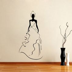 Housewares Vinyl Decal Girl Bride Wedding Dress Salon Home Wall Art Decor Removable Stylish Sticker Mural Unique Design for Any Room Decal House http://www.amazon.com/dp/B00FWLXG6W/ref=cm_sw_r_pi_dp_kiPUtb1B9GWD8E5D