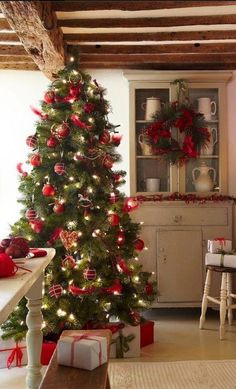 Sweet country kitchen decorated for the season , from Iryna