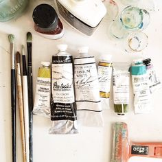 """""""Our studio is being photographed today for a fancy pants magazine, so, I'm making sure all my ducks are in a row, and all my paints are lined up just so. """" Photo taken by @emily_jeffords on Instagram, pinned via the InstaPin iOS App! http://www.instapinapp.com (04/07/2015)"""