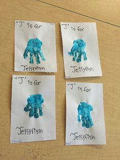 J Is For Jellyfish Cute Handprint Art Toddlers Letter Craft