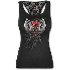 Hands of sorrow toppi painijaselälällä.      Plussize   SpiralDirect   Rock   Goth
