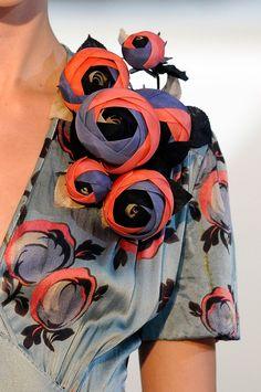 3D Sculptural Flower detail - fashion prints, come to life