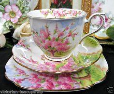 Vintage Royal Albert tea trio Blossom Time
