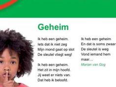Geheim Poem A Day, Spelling, Budgeting, Poems, Drama, School, Quotes, Kids, Dutch