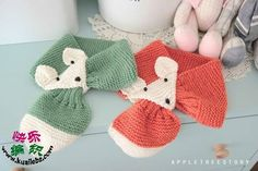 ergahandmade: Hand Knit Fox Scarf + Pattern Step By Step Knitting For Kids, Crochet For Kids, Loom Knitting, Sewing For Kids, Baby Knitting, Free Crochet, Crochet Gloves, Crochet Scarves, Tricot Baby