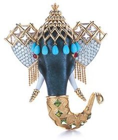 ...Coming from the famed jewelry house of Tiffany & Co., this animal headed brooch is designed exclusively by none other then Jean Schlumberger. Made from Platinum and 18K Yellow Gold and decked with diamonds and sapphire accents, this is one-of-its-kind piece of jewelry.