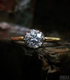 8abd72758b3 A sparkly grey Old European cut diamond engagement ring