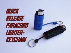 How to Make a Paracord Lighter Keychain-Quick Release-DIY - YouTube