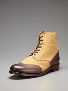Glenn Cap Toe Derby Boots by Grenson on Gilt.com