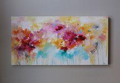 rosa de la pintura abstracta pintura abstracta por artbyoak1