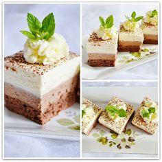 Čokoládové tvarohove rezy