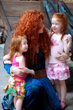 Merida and two little redheads.