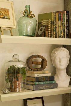 Living Room Decorating Ideas: Floating Shelves